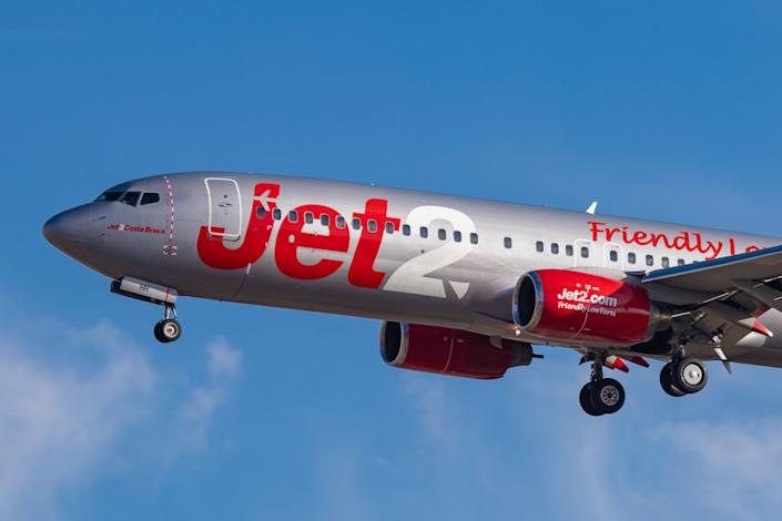 Jet2 and Jet2holidays announced it has extended its flight and holiday suspension to 23 June. Photo: Nicolas Economou/NurPhoto via Getty Images